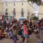 assemblea improvissada al mercat del Clot