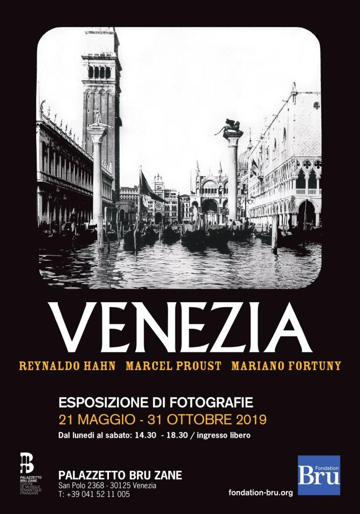 Affiche expo Venezia Hahn Proust Fortuny