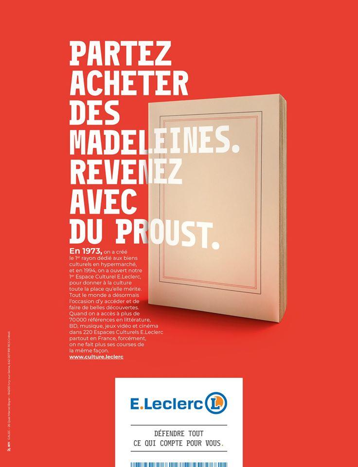 Affiche publicitaire pour les espaces culturels Leclerc