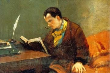 Charles Baudelaire, détail d'un tableau de Courbet