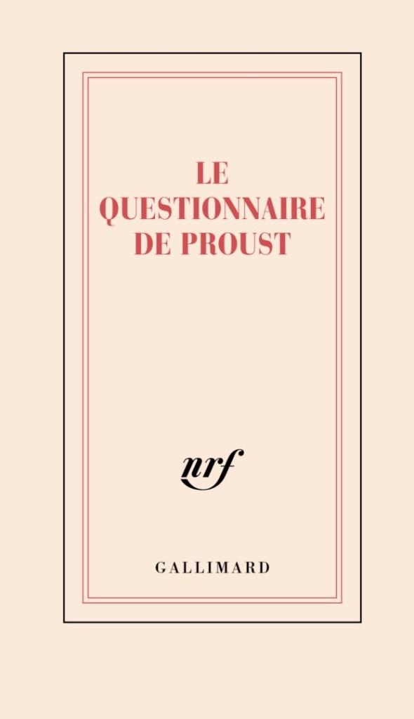 couverture du carnet Questionnaire de Proust