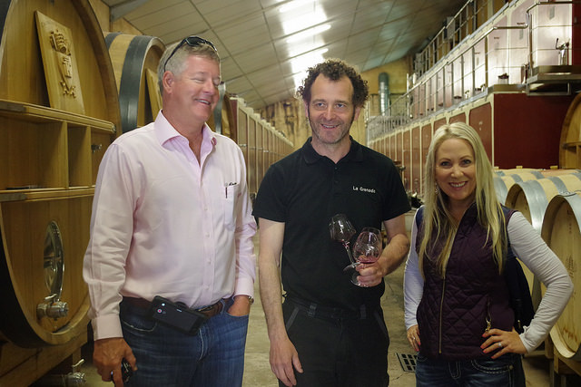 Chateauneuf du Pape cellar 3 people