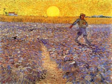 Le Semeur au soleil couchant - Arles June 1888
