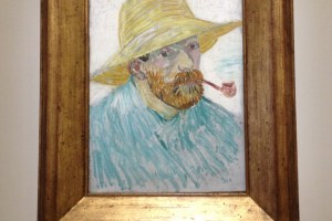 Van Gogh Self Portrait with Pipe and Hat