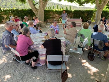 July 2019 Talk about Provence for Rainy Days Books Tour Group from Kansas