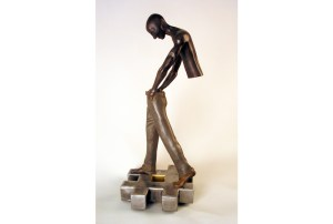 "photo of sculpture ""Age of Man"", Iron Edition"