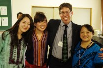 Jonathan and Satomi with a couple of Japanese volunteers. Volunteers are instrumental to making our program happen each year!