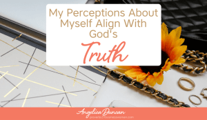 Biblical Declarations & Affirmations #speaklife: My Perceptions About Myself Align With God's Truth