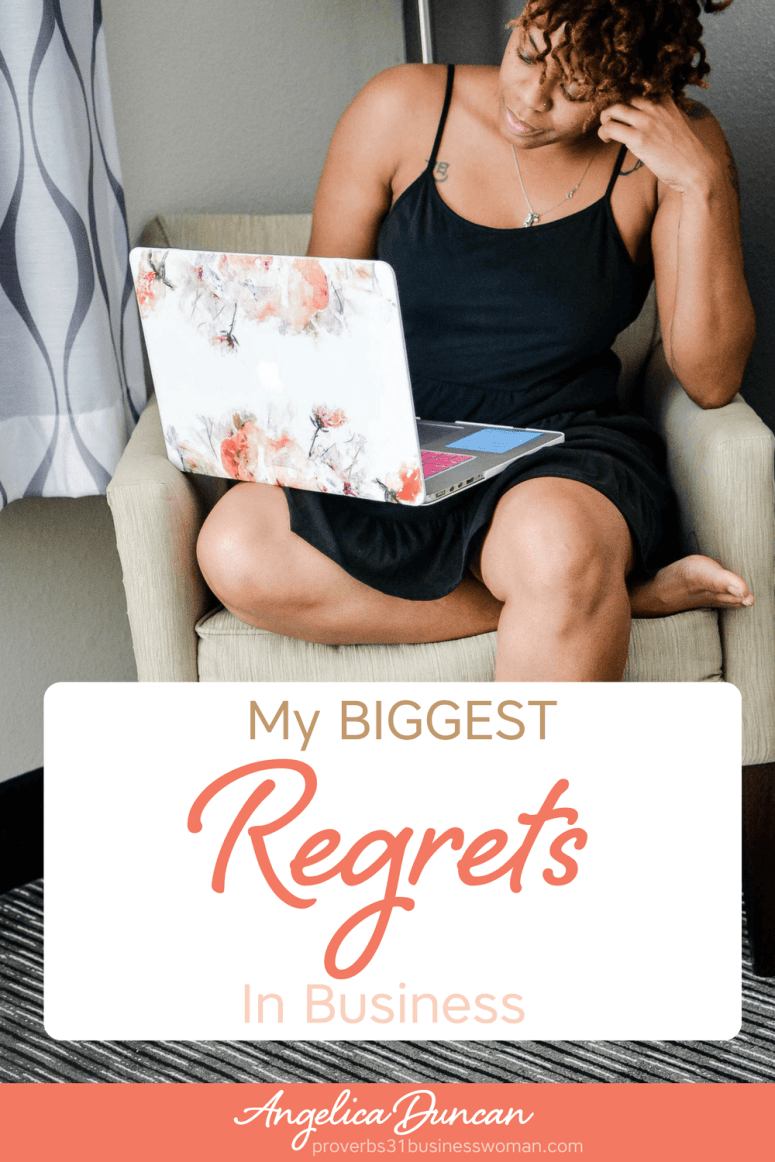 My biggest regrets in business have nothing to do with clients, money, or marketing...but it sure does affect all of that. It's not what you think either! #businessregrets #businessmistakes #mompreneur #onlinebusiness #wahm #womeninbusiness #christianbusiness #christianwomeninbusiness #christianentrepreneurs #proverbs31 #proverbs31woman #proverbs31businesswoman #proverbs31enrepreneur #p31 #angelicaduncan #silkoversteel #sos