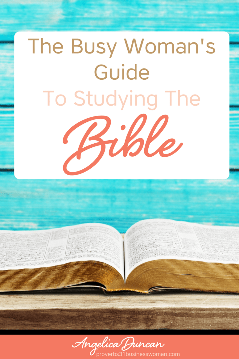 Find yourself in a busy season with wiving, mothering, and all things life? The Busy Woman's Guide To Studying The Bible is just what you need! #biblestudy #christianliving #christianlife #christianwoman #chrisitanblogger #faith #bible #biblicaltruth #devotions #dailydevotions #quiettime #quiettimewithgod #scripture #verseoftheday #godsword #angelicaduncan #silkoversteel #sos