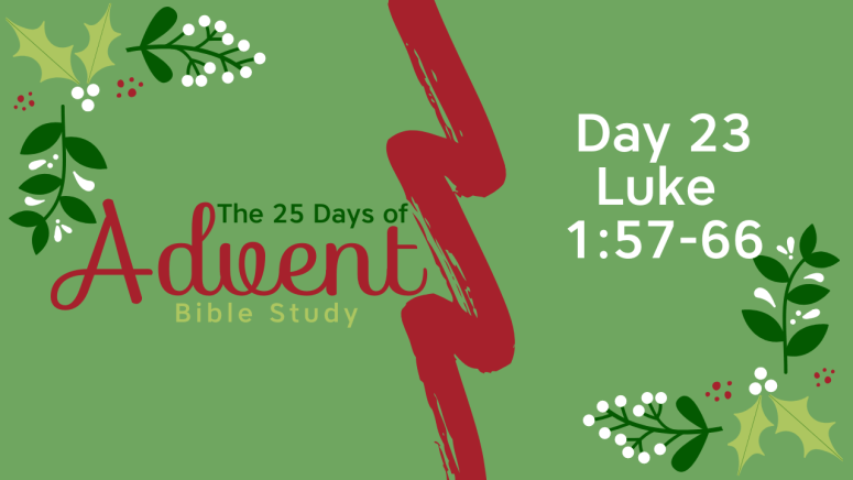 25 Days of Advent Bible Study Series {Day 23}