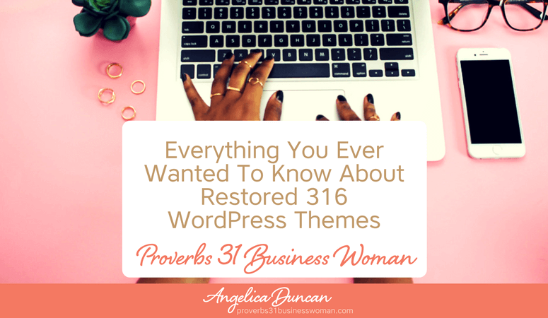 Restored 316 WordPress Themes are perfect for bloggers, entrepreneurs, & coaches. Modern, chic, & beautiful! Looking for a feminine WordPress Theme for your business or blog? Then look no further!