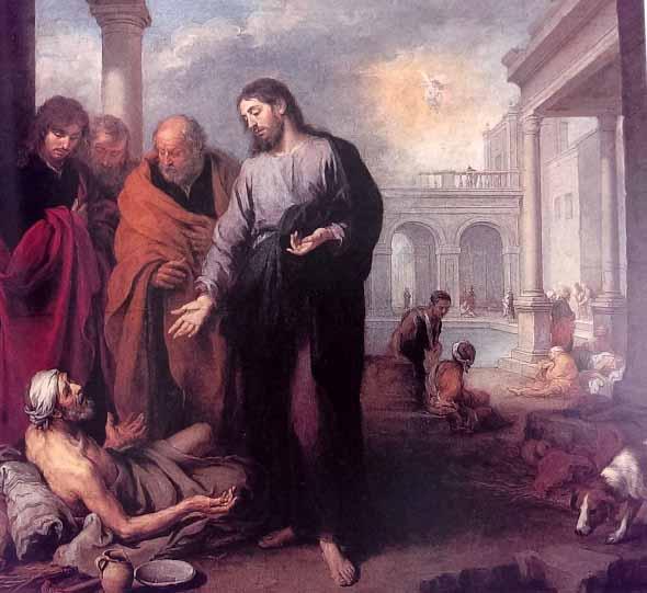 ムリーリョ 病人を癒すキリスト 1652 マドリード、プラド美術館