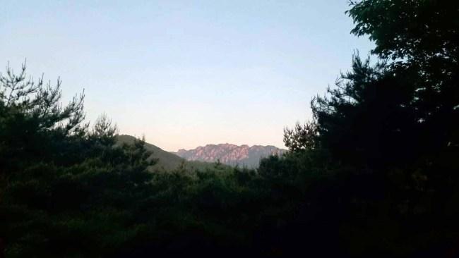 月明洞 テドゥン山