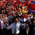 """北朝鮮 軍事パレードで異例の""""ICBM無し"""""""