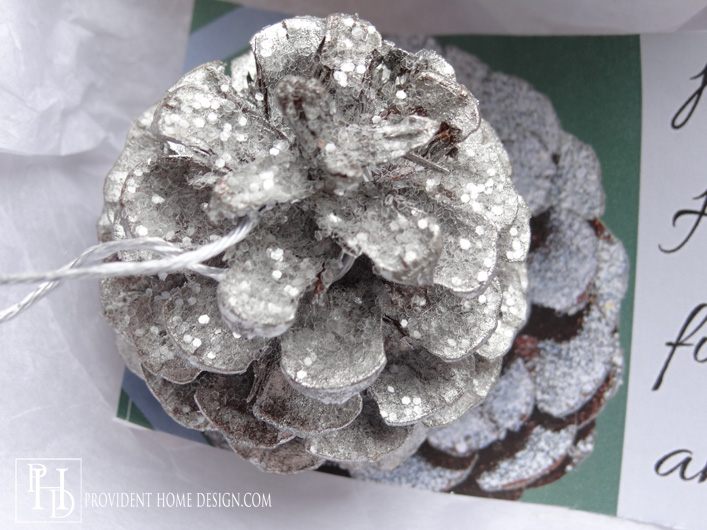DIY Sparkling Pinecone Ornament