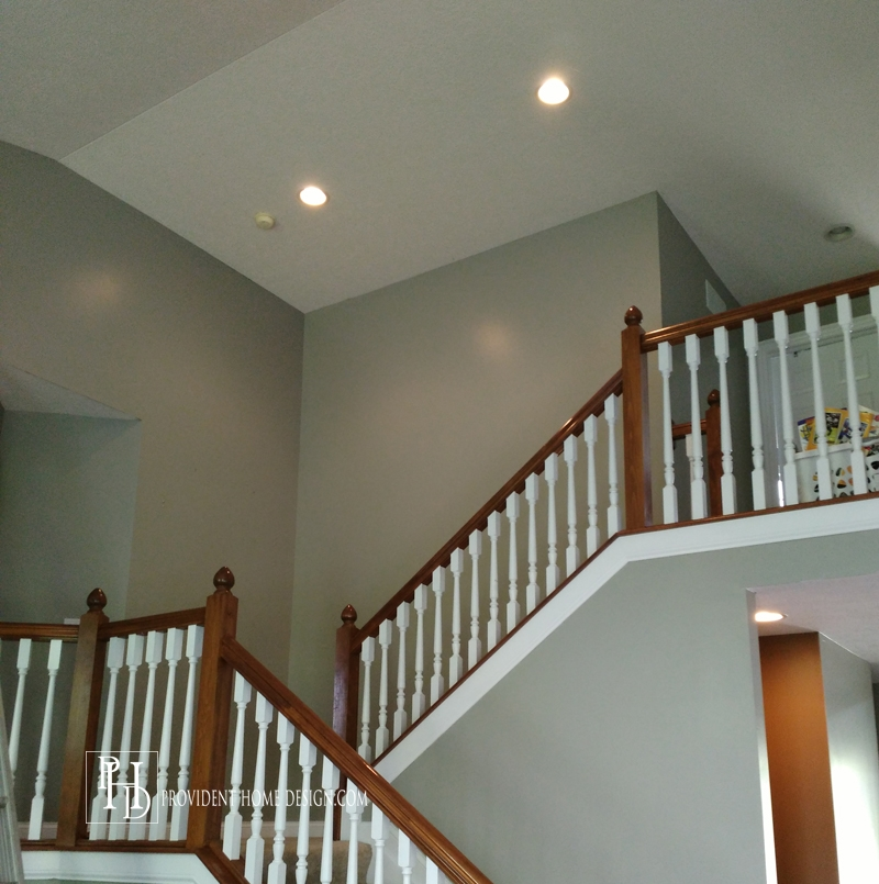 The Secret To Painting A 2 Story Wall | Two Story Staircase Designs | Entryway | Stunning | Glass | Two Storey House | 2 Story