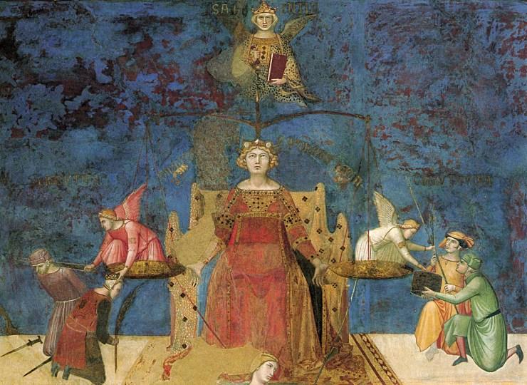 Ambrogio LORENZETTI - allegorie du bon gouvernement 4