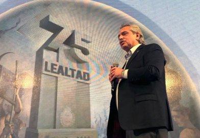 Habla Alberto Fernández en el acto por Día de la Lealtad