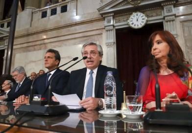 Alberto Fernández realiza la apertura de sesiones