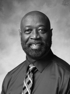 A Jones Property Management Consultant bio pic, black and white