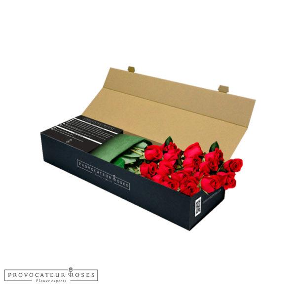 Rosas frescas caja royal