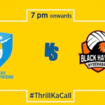 Kochi Blue Spikers vs Black Hawks Hyderabad