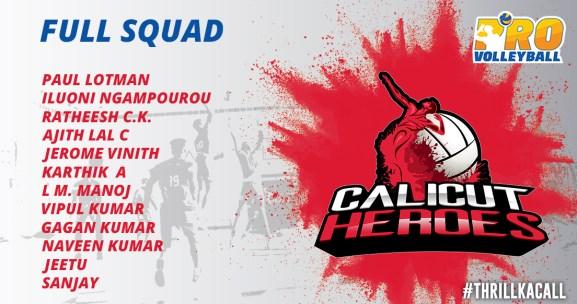 Calicut Heroes Team Squad