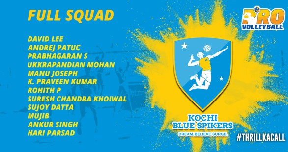 Kochi Blue Spikers Team Squad Infographics