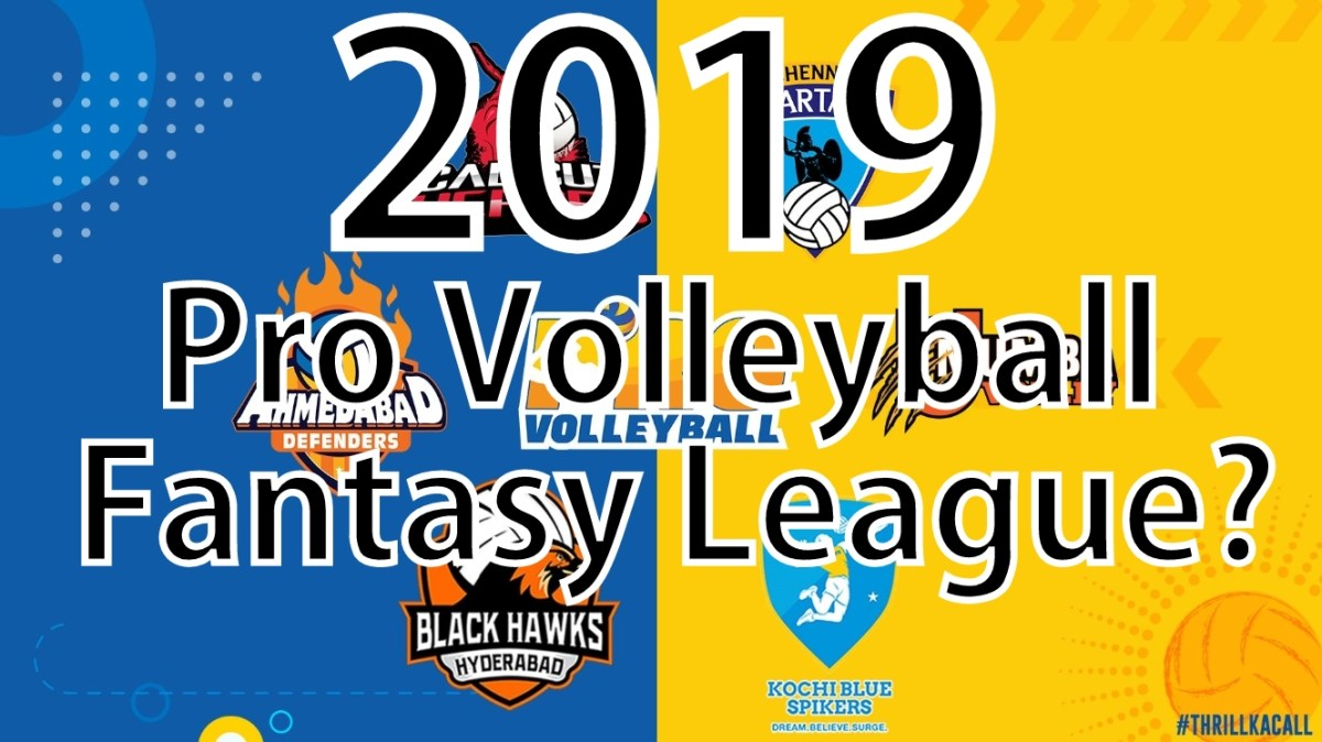Pro Volleyball Fantasy league India 2019.