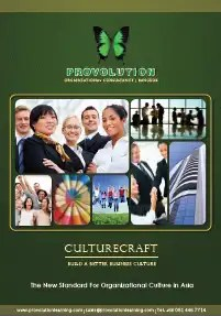 Culturecraft Team Building Program Catalog