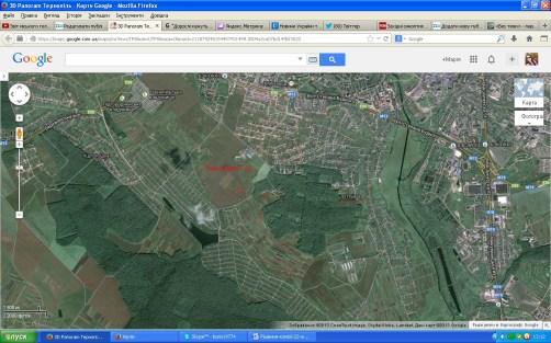 Супутникова карта земель в Петрикові