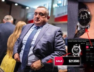 На з'їзді партії Порошенка Богдан Дубневич дефілював у годиннику з платини ціною від 213 тисяч $