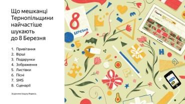 Що мешканці Тернопільської області шукають до 8 березня?