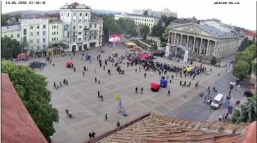 Менше сотні тернополян вийшли на марш сили нації з Олегом Тягнибоком