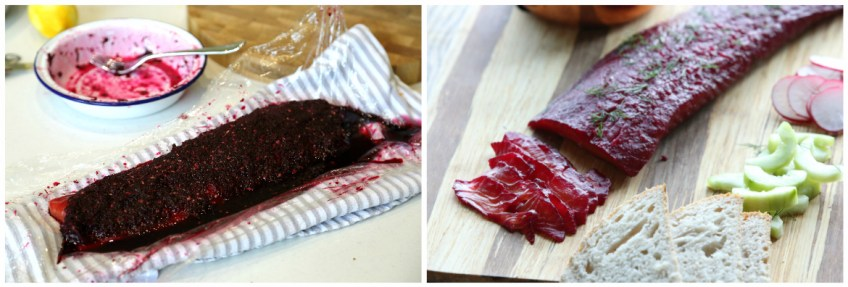 Image of ProWare's Beetroot and Vodka Cured Salmon recipe