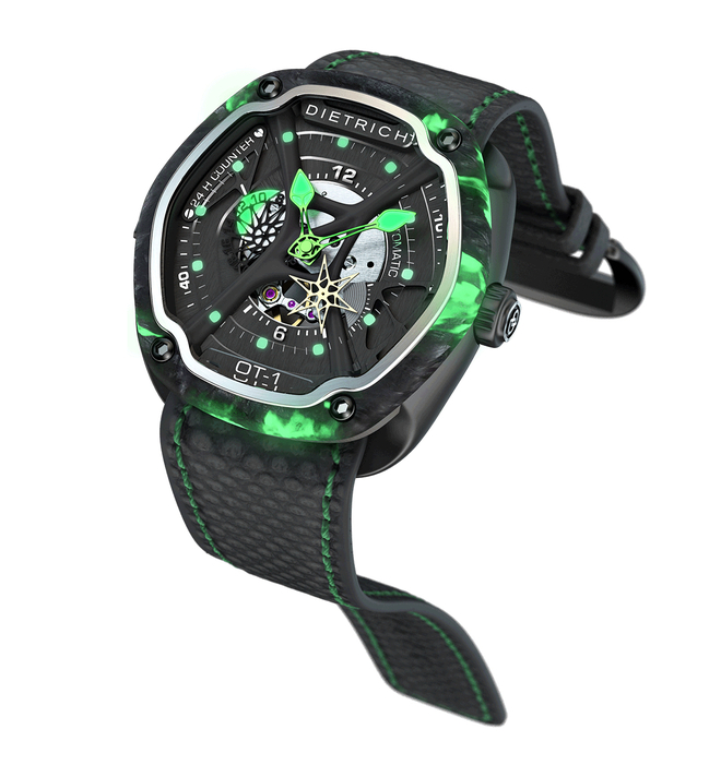 Dietrich ot 1 carbon luminescent professional watches for Luminescence watches