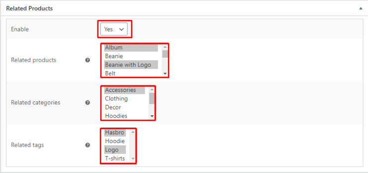 Related Products Manager for WooCommerce Screenshot