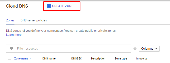 Cloud DNS Zone on Google Cloud