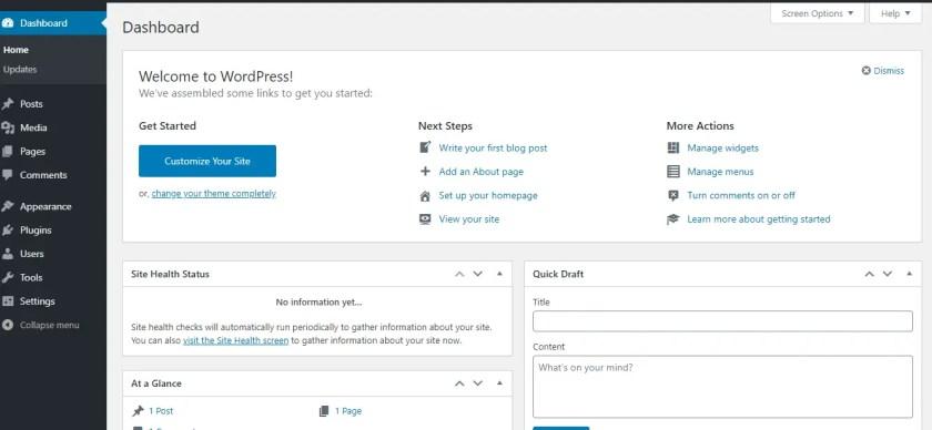 login to your WordPress Dashboard