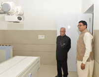 President Pranab Mukherjee visit after inaugurating the newly renovated Sevashram Hospital, at Bharuch, in Gujarat (Courtesy:PIB)