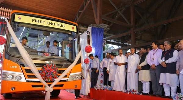 LNG Bus rolled out in Kerala