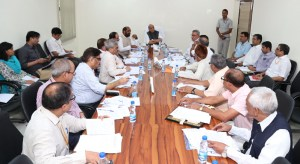 Rajnath Singh chairing a meeting of the Advisory Committee associated with the Minister of Home Affairs for the Union Territory of Lakshadweep, in New Delhi on July 13, 2017.