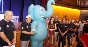 Harsh Vardhan, Dia Mirza and other dignitaries at launch of 'Gaj Yatra' to mark World Elephant Day 2017