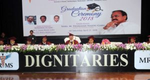 Vice President M. Venkaiah Naidu at the First Graduation Day function of Malla Reddy Institute of Medical & Dental Sciences, in Hyderabad, Telangana on April 21, 2018.