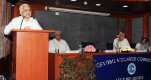 "The Member, Finance Commission of India, Shaktikanta Das delivering the lecture on the topic ""Indian Economy – the Structural Question "" of the Lecture Series, organised by the Central Vigilance Commission (CVC), in New Delhi on April 24, 2018."