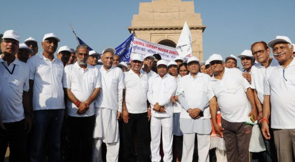 "Increase in PMVVY limit can enables upto Rs. 10000 Pension per month for Senior Citizens Seen in the File Picture: Union Minister for Social Justice and Empowerment, Thaawar Chand Gehlot along with the Minister of State for Social Justice & Empowerment,  Krishan Pal at the flag-off ceremony of a ""Morning Walkathon"" for Senior citizens, organised by the Ministry of Social Justice and Empowerment, on the occasion of the International Day of Older Persons (IDOP), in Delhi on October 02, 2017."