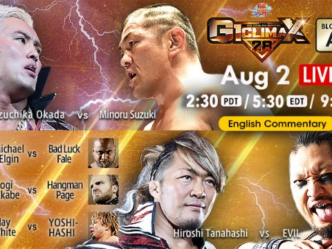 NJPW G1 Climax 28 Results - August 2, 2018