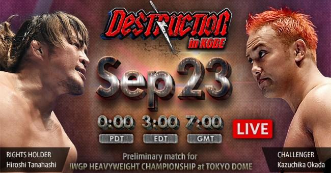 NJPW Destruction In Kobe 2018 Results