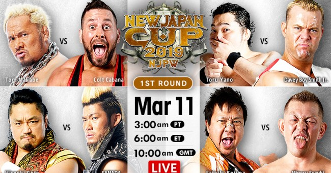 New Japan Cup Results (3/11/19)